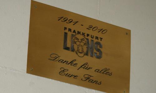 Frankfurt Lions Gedenktafel