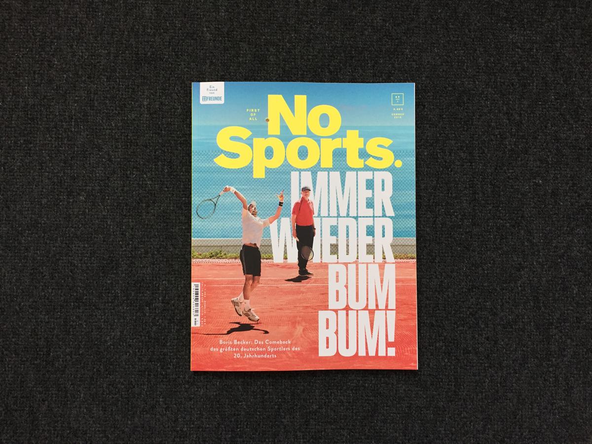 No Sports. Titelseite.